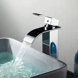 waterfall faucet for bathroom sink contemporary brass waterfall bathroom sink faucet
