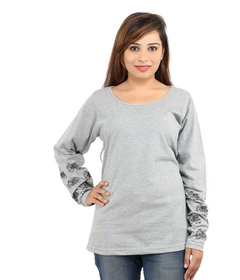 Sweater Discovery Leo Cloth buy leo clothing gray cotton tops at best prices in india snapdeal
