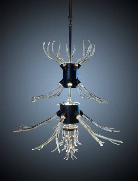 Glass Antler Chandelier Glass Antler Chandelier Modern Other Metro By Almaguer Glass