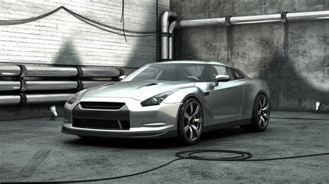 silver nissan car silver nissan gt r front side view wallpaper car