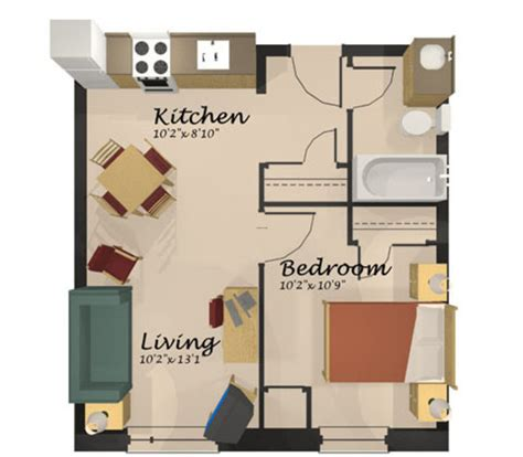 One Room Apartment Floor Plans | grad apartments design bookmark 13468