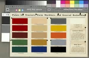international harvester paint chart print wisconsin historical society
