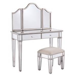 2 Kaila Mirrored Vanity Stool Set House Of Hton 2 Kaila Mirrored Vanity Stool Set
