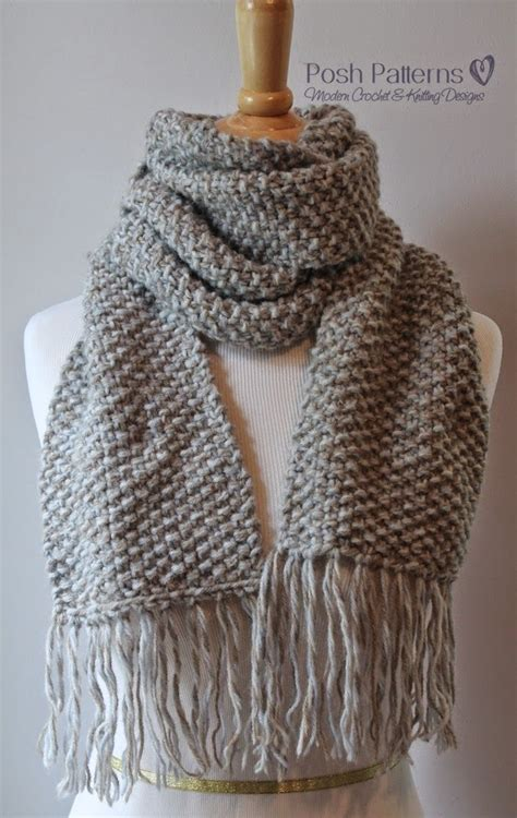 free knit scarf pattern posh patterns easy crochet patterns and knitting patterns