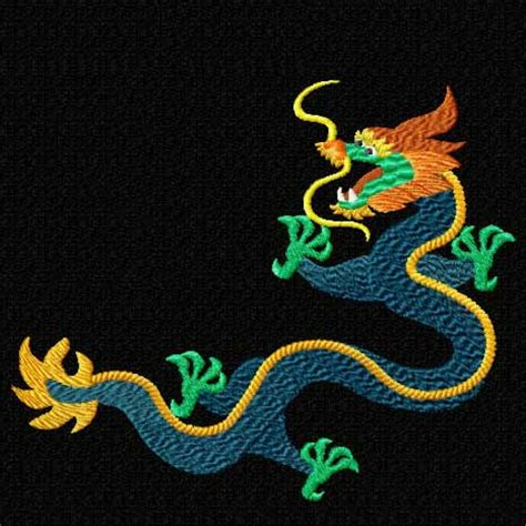 embroidery design dragon chinese dragons machine embroidery designs set ebay
