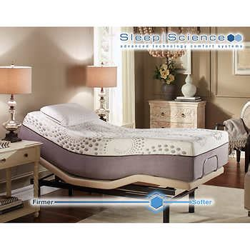sleep science adjustable bed sleep science ara 13 quot twin xl memory foam mattress with