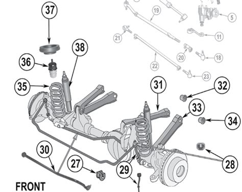 2001 jeep grand front end diagram jeep grand front suspension diagram