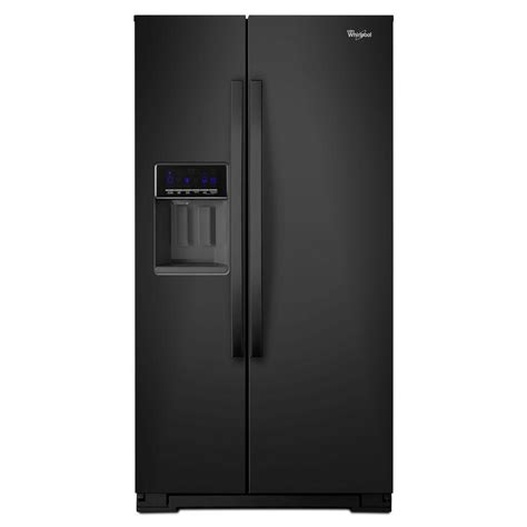 whirlpool 20 6 cu ft side by side refrigerator in black counter depth wrs571cidb the home depot