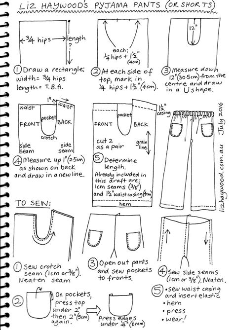 pattern drafting pockets free pattern pajama pants or shorts the craft of clothes