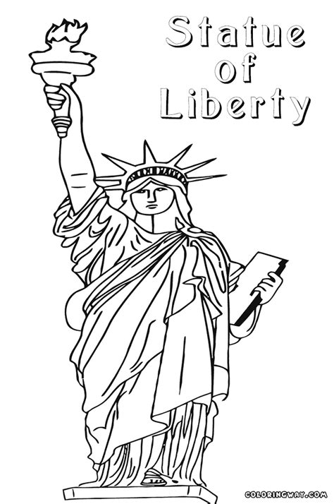 statue of liberty coloring pages coloring pages to
