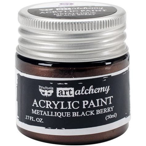 acrylic paint reviews finnabair alchemy acrylic paint metallique black
