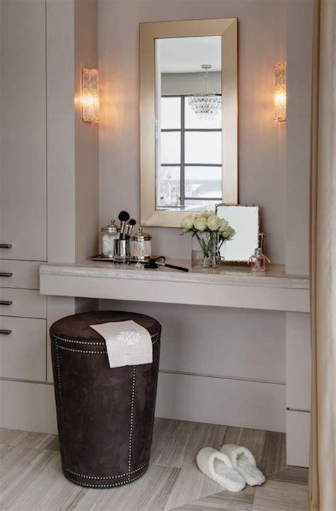 built  makeup vanity contemporary closet kimberley