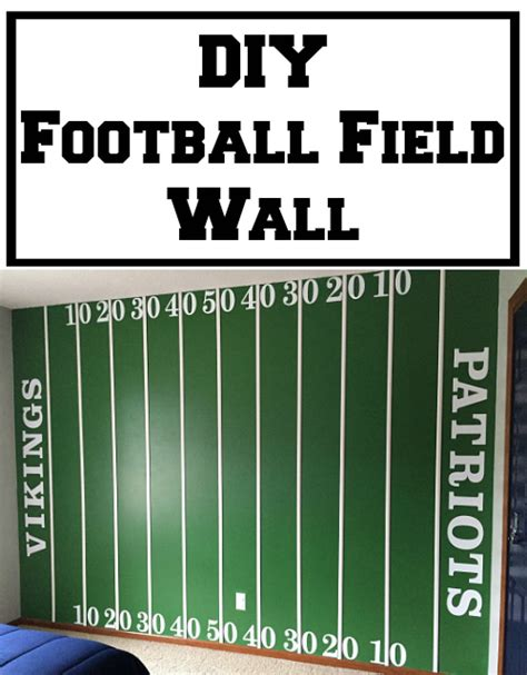 how to make a football field in your backyard diy football field wall lemons lavender laundry