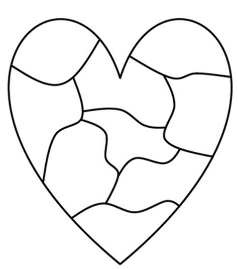 printable puzzle heart heart map template