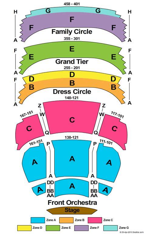 tulsa pac seating diagram fox cities performing arts center seating chart