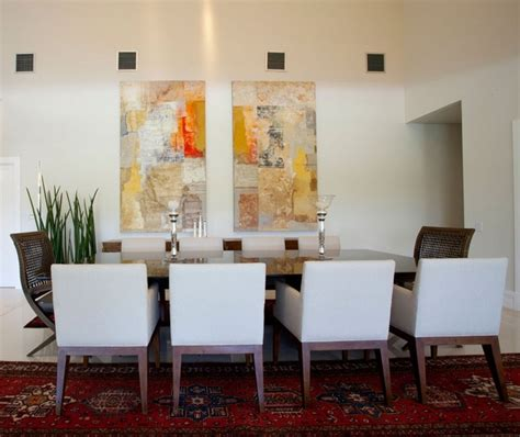 painting decor dining room wall decor with abstract wall painting