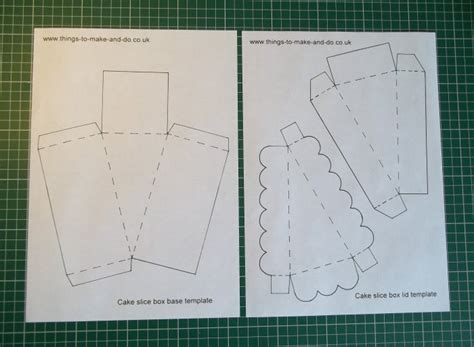 how to make a cake box template 25 unique cake slice boxes ideas on paper