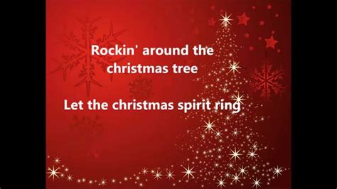 brenda lee rockin around the christmas tree lyrics youtube