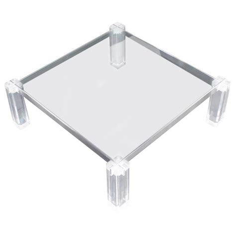 square lucite coffee table lucite base large square coffee table for sale at 1stdibs