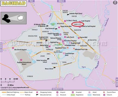 baghdad map bomb explosion in baghdad 60 dead