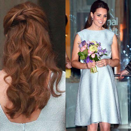kate middleton wedding hair tutorial kate middleton half up half down hair google search