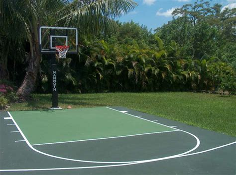 backyard sports court prices backyard basketball half court dimensions 2017 2018 best cars reviews