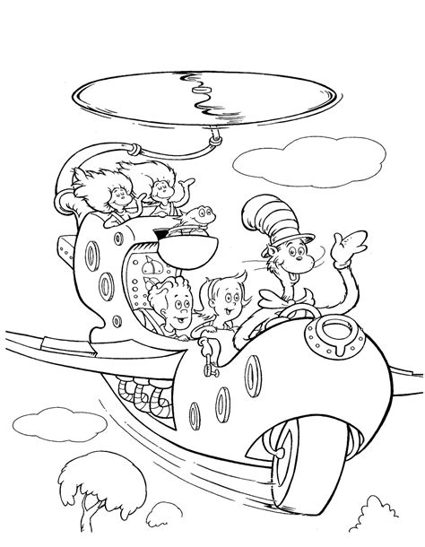 the hat coloring page free printable cat in the hat clip art 65