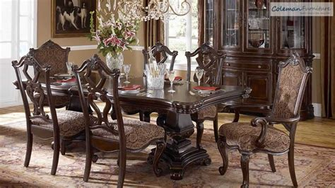 grand european pedestle dining room collection from