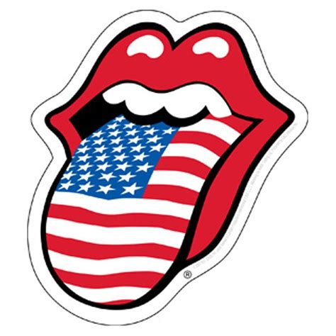 American Home Design Reviews by The Rolling Stones Usa Tongue Sticker