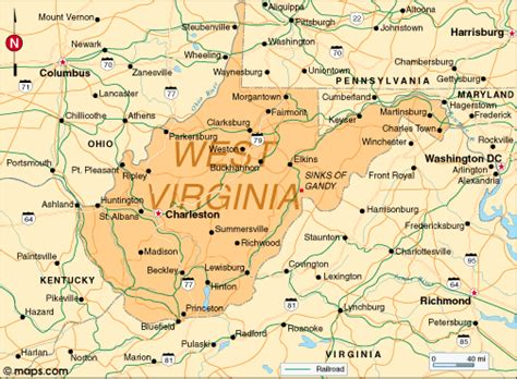 west virginia usa map west virginia map and west virginia satellite images