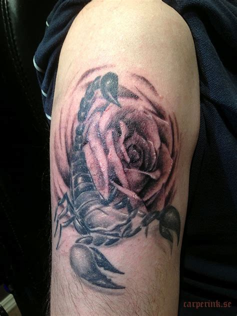 scorpion with rose tattoo 14 dove with 100 badass tattoos for
