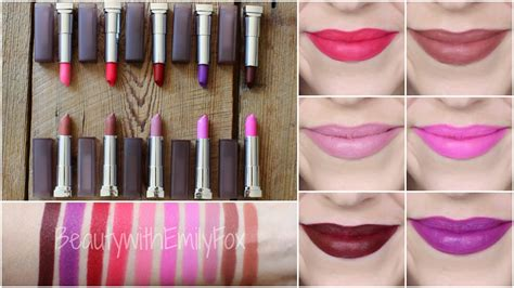 Maybelline Lipstik new maybelline matte lipstick shades lip swatches
