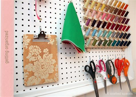 Diy Pegboard | crafted spaces diy pegboard wall organizer