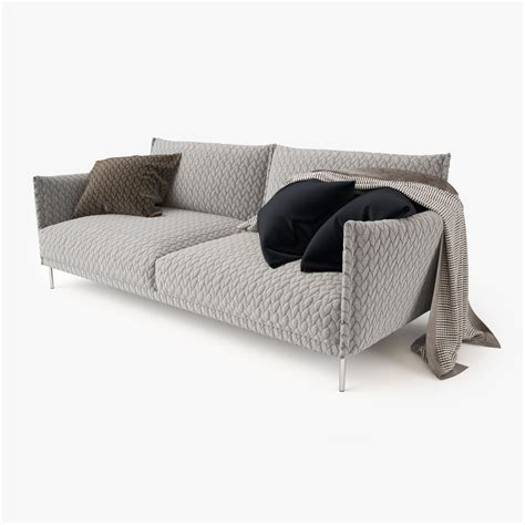 moroso gentry sofa moroso gentry 2 seater sofa 3d model max obj fbx mtl