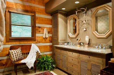 rustic log cabin bathroom traditional bathroom log cabin bath traditional bathroom nashville by