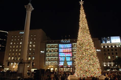 union square tree lighting things to do in san francisco november 2015 spothero blog
