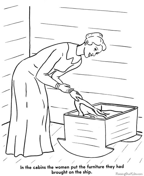 coloring pages for the first thanksgiving story of the first thanksgiving coloring page 006