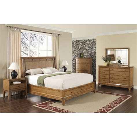 bedroom set king size toluca lake 5 piece king size storage bedroom set by