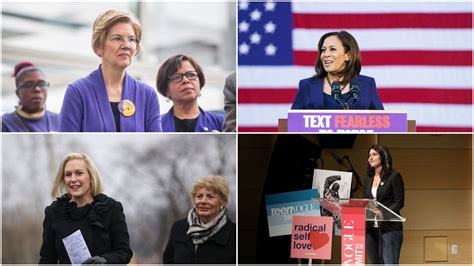 kirsten gillibrand slogan women take the lead in 2019 axios