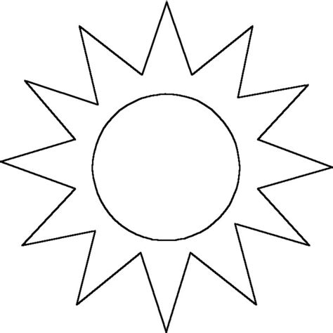 template of the sun sun outline liked on polyvore polyvore