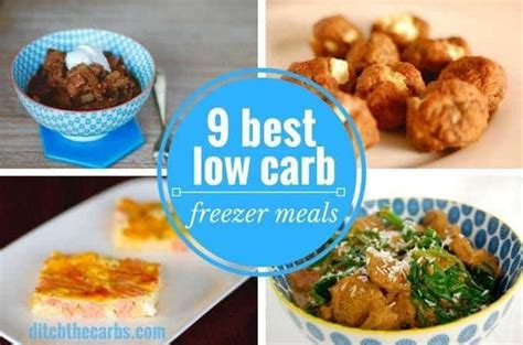 9 super easy low carb freezer meals and a handy freezer infographic