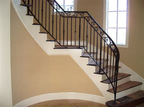 stairway banisters wrought iron stair railing