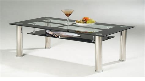 Black Glass Coffee Table Black Glass Coffee Table With Chrome Legs Homegenies