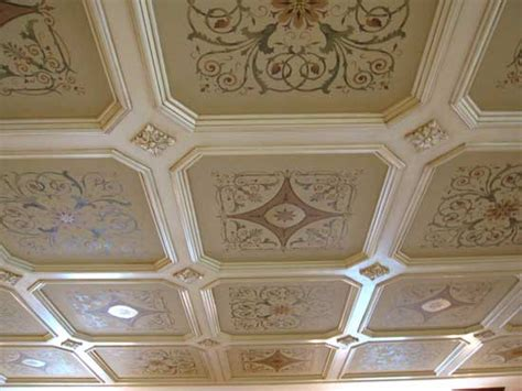 Ceiling Border Stencils by Stencil A Coffered Ceiling Like A Pro 171 Stencil Stories