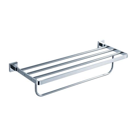 kraus aura bathroom towel rack with towel bar in chrome