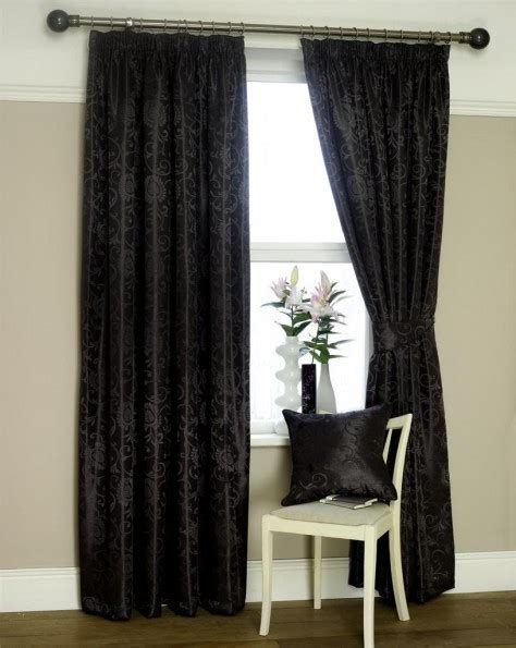 black and charcoal curtains eton jacquard ready made lined curtains charcoal black