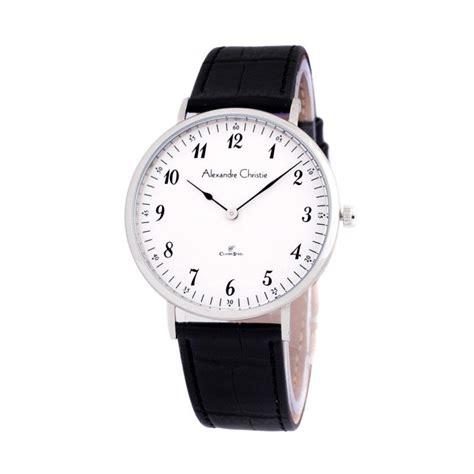 Alexandre Christie 8470lh Jam Tangan Pria Tali Kulit Hitam jual rekomendasi seller alexandre christie 8479 tali kulit jam tangan pria putih