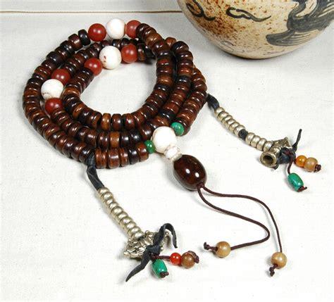 how many on a buddhist rosary handmade blessed tibetan yak horn 108 mala