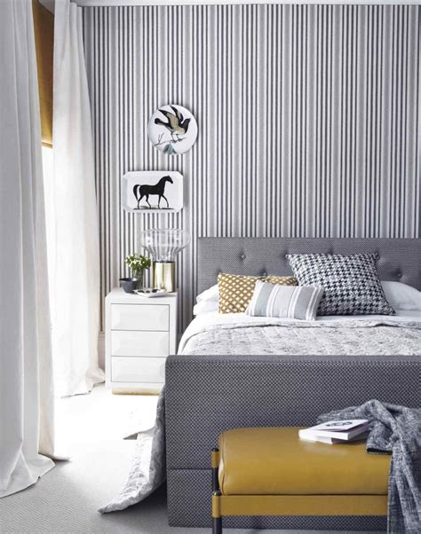 wallpaper grey bedroom make your bedroom gorgeous with wallpaper the room edit
