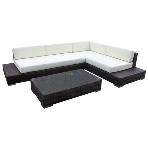 gartenmöbel lounge sofa rattan rattan wicker garden patio set atlanta outdoor lounge